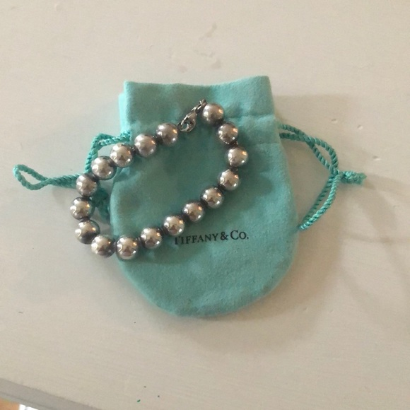 fdf4784cd Tiffany & Co. Jewelry | Authentic Tiffany Sterling Silver Beaded ...